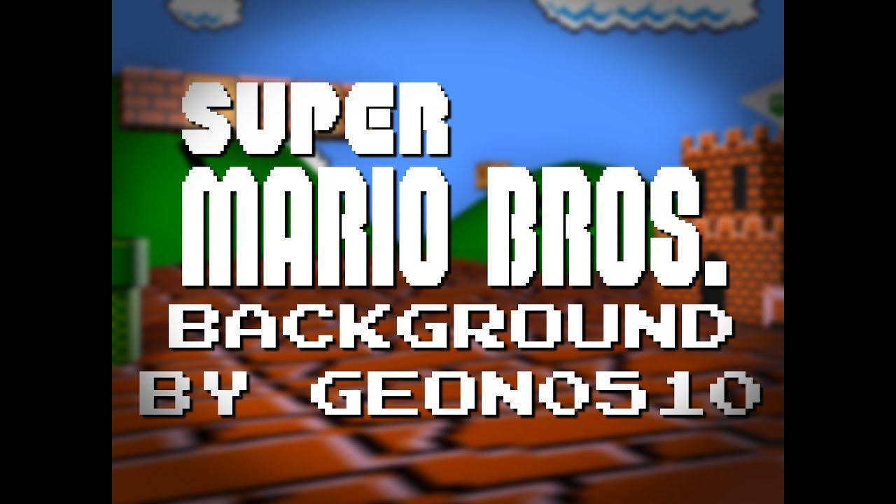 Super Mario Bros Backgroundfree To Use