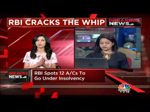 RBI  Cracks The Whip, Spots 12 A/Cs To Initiate Insolvency Proceedings