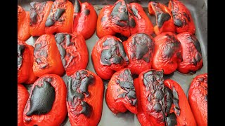 Roasted Red Peppers - Roasted Red Peppers In A Delicious Salad - Tomato Salad