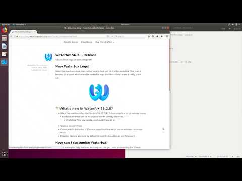 How to install Waterfox Browser on Ubuntu 18.04