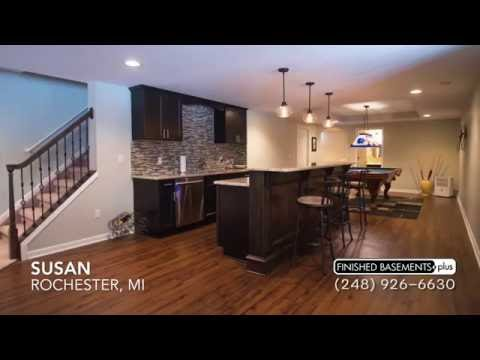 Beautiful Finished Basement Family Room in Rochester, MI   Customer Testimonial