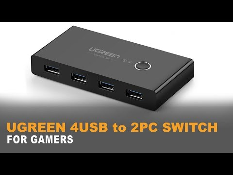 """♠ UGREEN 4 PORT USB 3 Sharing Switch   THE """"FOR GAMERS"""" TEST   4K"""