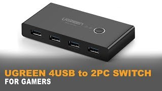 ♠ UGREEN 4 PORT USB 3 Sharing Switch | THE