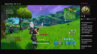Fortnite season X livestream try to get my dum win :)