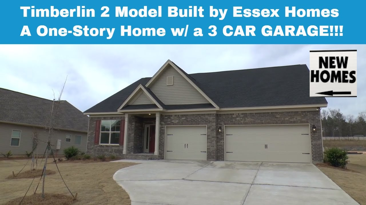 Timberlin 2 model built by essex homes one story home with 3 car garage