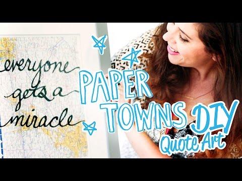 Paper Towns-Inspired DIY Map Wall Art - HGTV Handmade