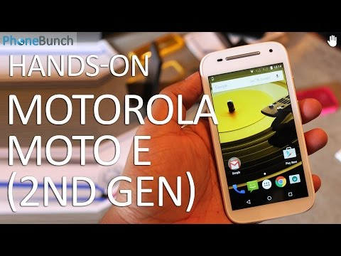 Moto E (2nd Gen) 3G India Hands-on Overview and First Impressions