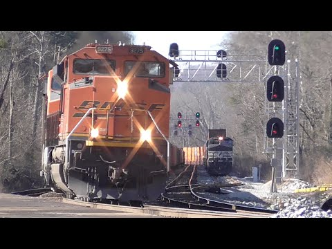 [1z] 30+ Trains in 12 Hours, Part 2/2, Railfanning Austell - Mableton GA, 01/30/2016 ©mbmars01