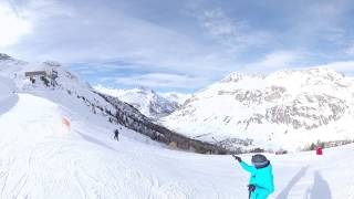 360 VR 8k Skiing, Tignes, the French Alps