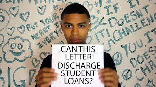 Can This Letter Discharge Your Student Loans?