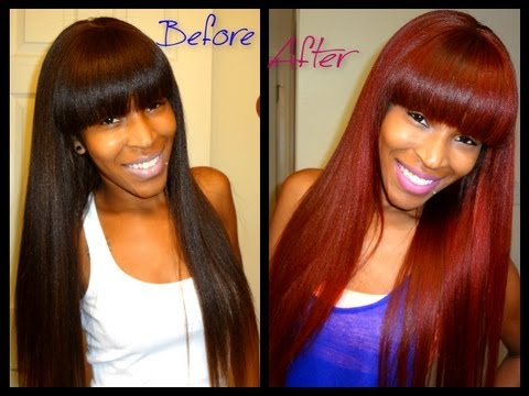 HOW TO: Brown hair to RED hair without Bleaching! - YouTube