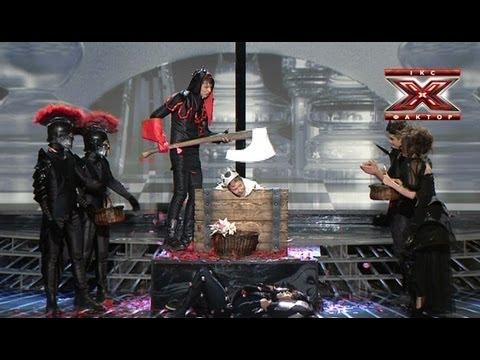 Общая песня - Bad Romance - Lady Gaga - Восьмой прямой эфир - Х-Фактор 3 - 15.12.2012