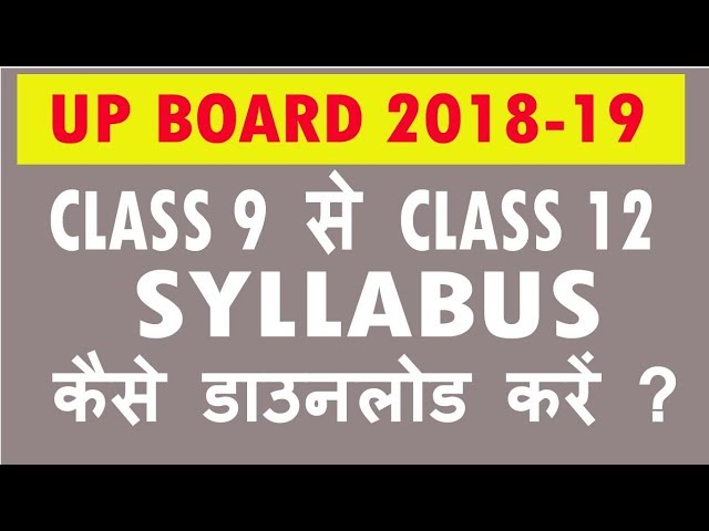 UP Board India English Syllabus