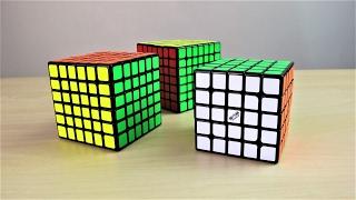 qiyi wushuang 5x5 wuhua 6x6 and wuji 7x7 unboxing speedcubeshop com
