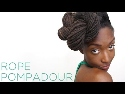 Loc Hairstyle Tutorial: Rope Pompadour