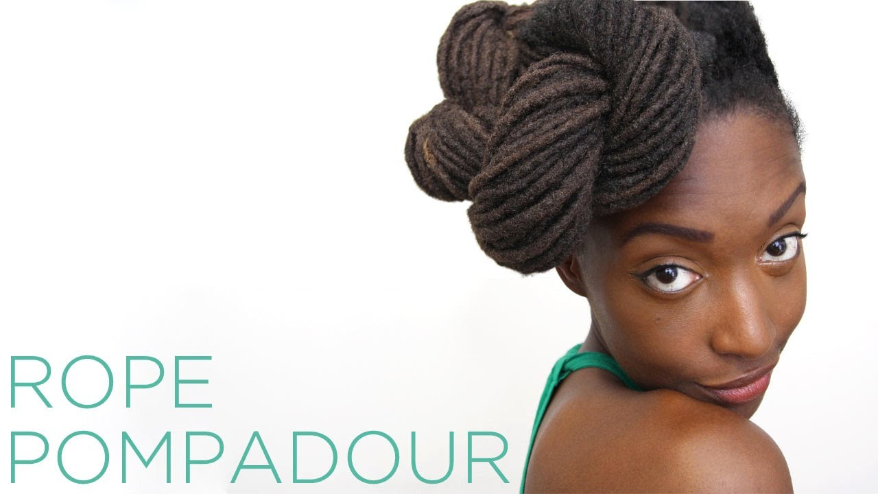 Loc Hairstyle Tutorial: Rope Pompadour - YouTube
