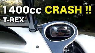 T-Rex Campagna 1400CC  Motorcycle CRASH!!!!!!!!
