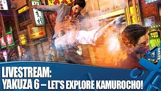 Livestream: Yakuza 6 – Let's Explore Kamurocho (English gameplay) thumbnail