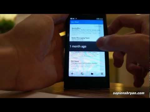Nokia N9: Email, Contact & Song Sorting, & Search Function