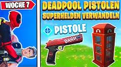 DEADPOOL BEKOMMEN 😍 Suche Deadpools Pistolen & Superhelden | Fortnite Deadpool Woche 7 Deutsch