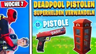 DEADPOOL BEKOMMEN ? Suche Deadpools Pistolen & Superhelden | Fortnite Deadpool Woche 7 Deutsch