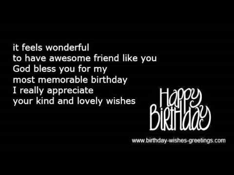 Thank you message birthday thanks wishes friend youtube thank you message birthday thanks wishes friend m4hsunfo
