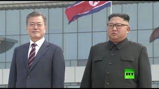 كيم جونغ أون يستقبل رئيس كوريا الجنوبية في بيونغ يانغ