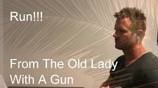Run!!! From The Old Lady With A Gun - Bear Ron Cover