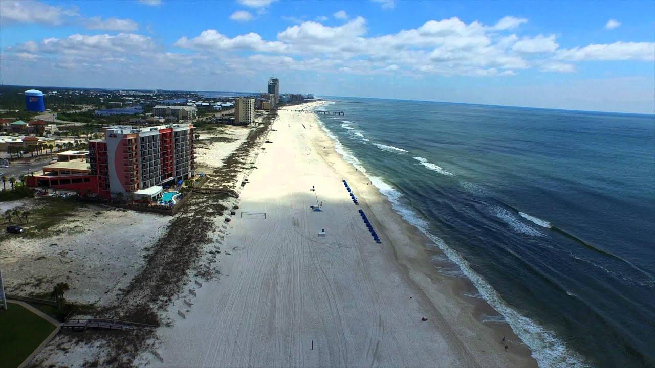 Aerial View Of Orange Beach, Alabama 04-29-2015