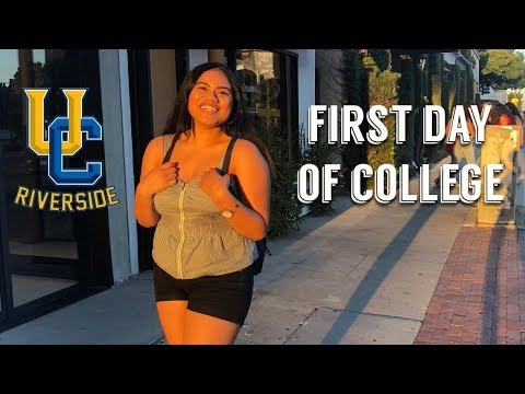 FIRST DAY OF COLLEGE VLOG | University of California, Riverside