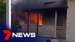 Mother runs to warn neighbours of suspicious blaze at Elizabeth Downs | Adelaide | 7NEWS