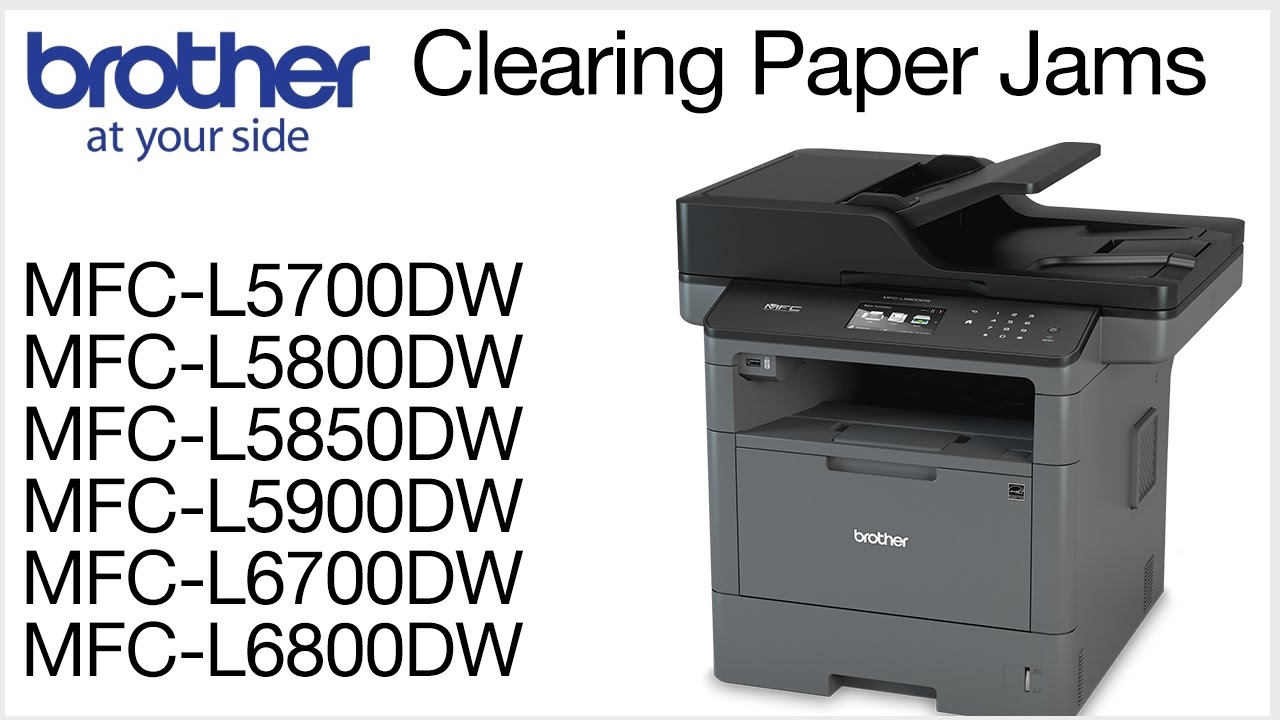 Clearing Paper Jam Errors Mcfl5800dw Or Mfcl6700dw Youtube
