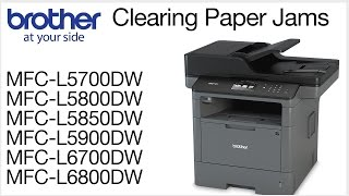 Clearing paper jam errors - MCFL5800DW or MFCL6700DW