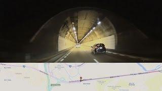 国道48号 ROUTE48   仙台西道路 青葉山トンネル    ドライブレコーダー hp f520g  Car Camcorder GPS MAP連動 (1080P)