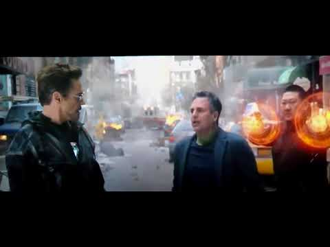 Avengers Infinity War Bruce Banner comedy scene  trying to become hulk