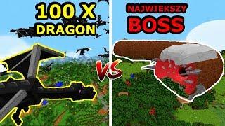 Minecraft: 100 ENDER DRAGONÓW VS NAJWIĘKSZY BOSS W MINECRAFT! Kto Jest Silniejszy?!