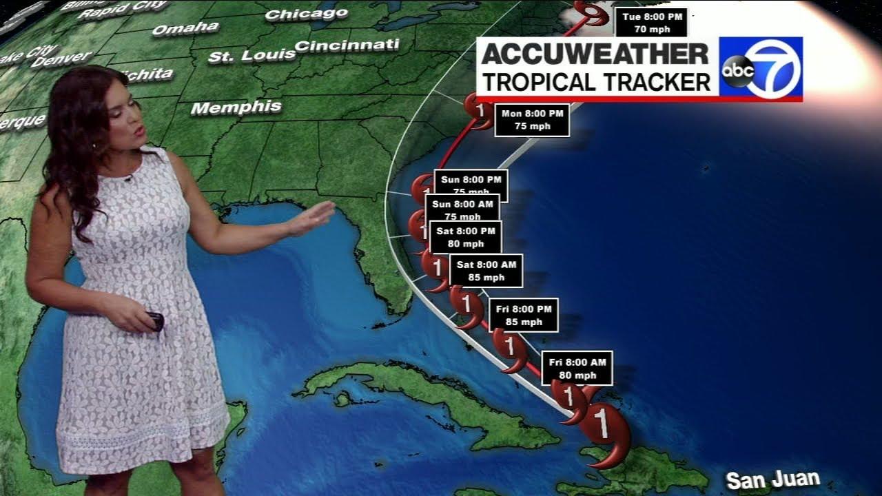 Hurricane Isaias Latest Track As Storm Moves Toward Florida Youtube