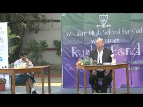 Ruskin Bond meets school children in Kolkata -- Part 2