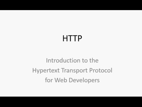 HTTP for Web Developers