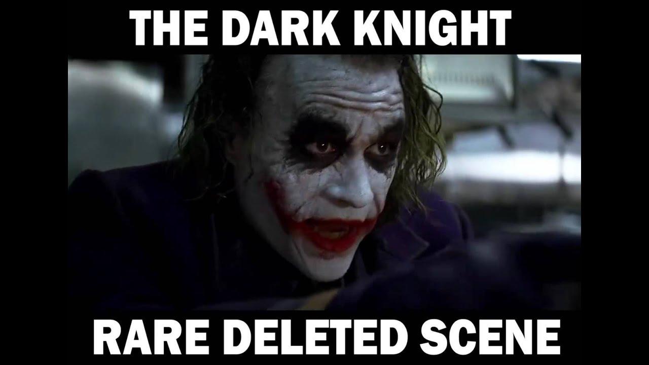 the dark knight rare deleted scene youtube