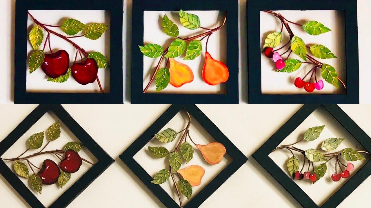 Diy Unique Home Decor Kitchen Wall Decoration Fruits 024 Youtube