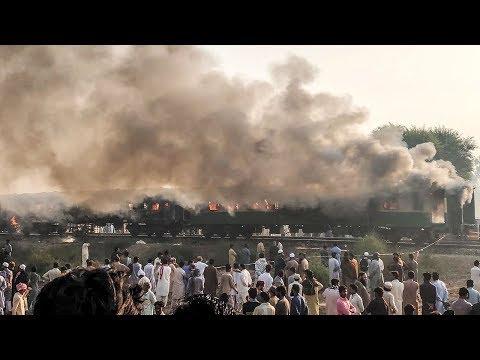 Fire Engulfs Train In Pakistan Killing At Least 65 People