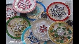 Handmade Holiday 2017 | Sparkle Snowflake Ornament Shaker Tags