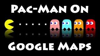 Pac-Man on Google Maps | Google's April Fools Prank! (2015) Free HD Video