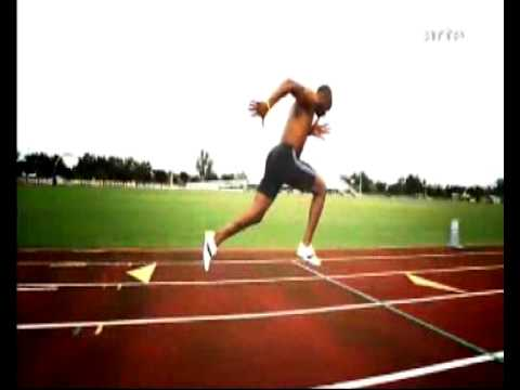 Asafa Powell Slow Motion Sprint / 100 mètres ralenti
