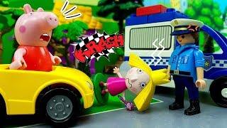 Il Piccolo Mondo di PEPPA PIG : Dottoressa Peluche aiuta a Holly con Poliziotto