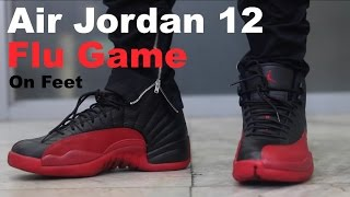 air jordan 12 flu game on feet