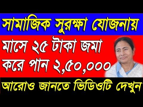 How To Apply For Samajik Suraksha Yojana|What is SSY|in West Bengal|Full Details in Bengali|in WB
