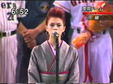 日米国歌斉唱 小柳ゆき