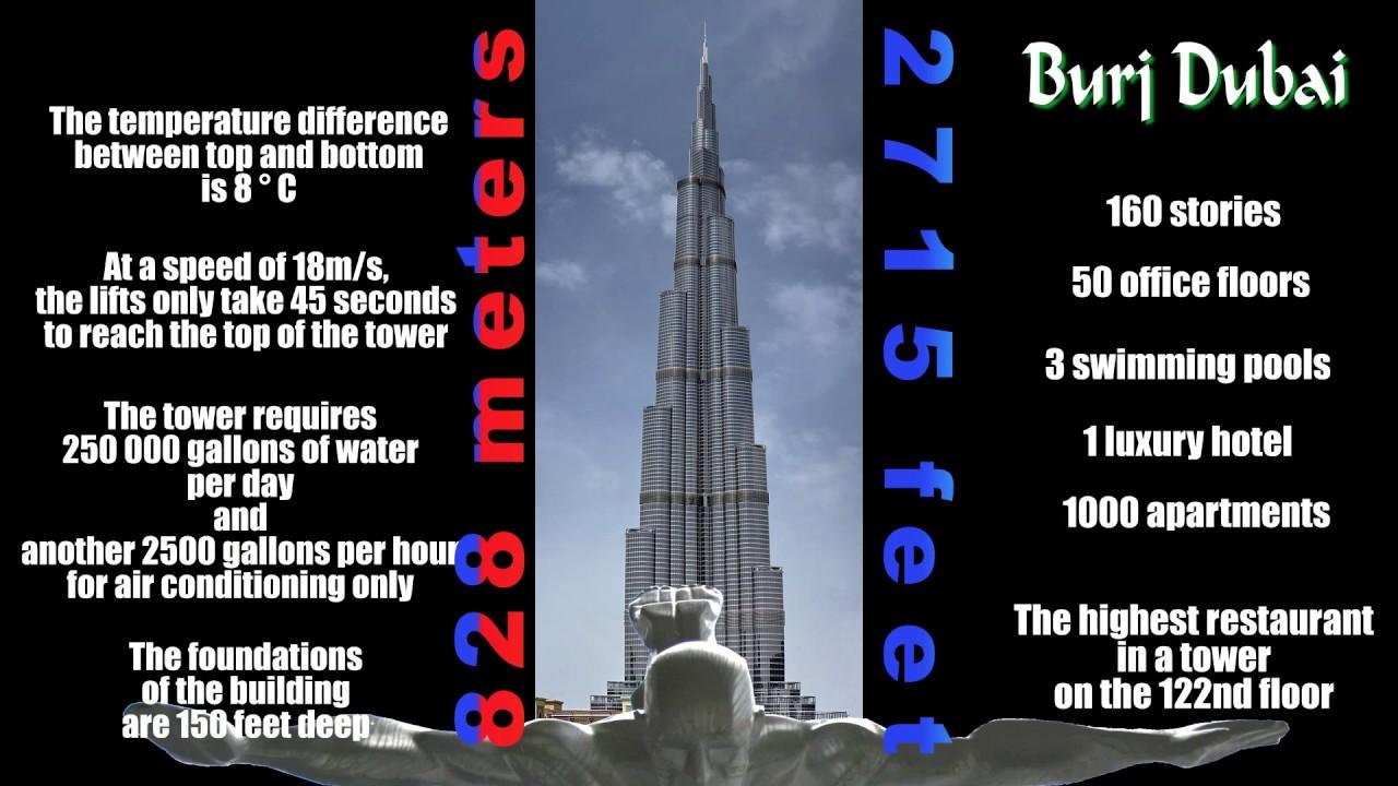 828 Meters Tower Burj Khalifa Dubai Youtube